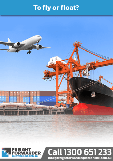Air freight vs sea freight - fly or float