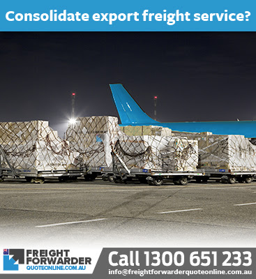 Consolidation export air freight delivery