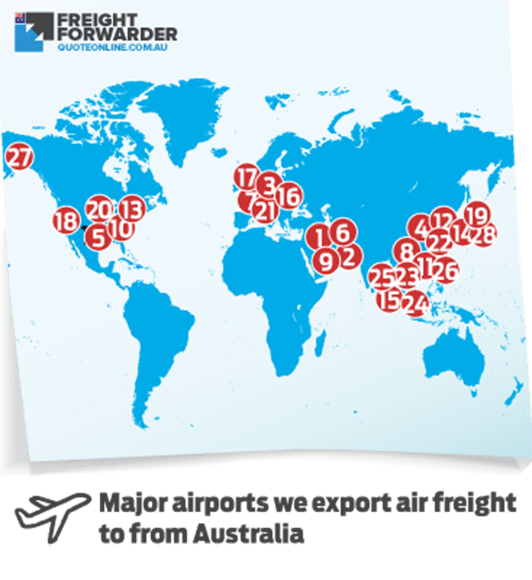 Export air freight service map