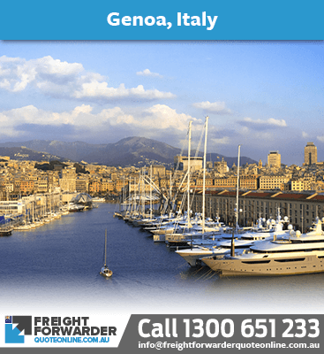 Looking to export sea freight to Genia, Italy