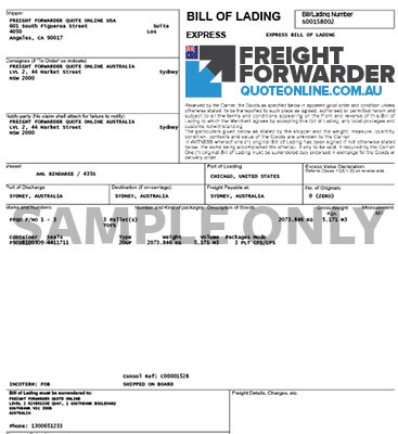 Import FAQ - what is a bill of lading