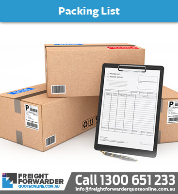 Import FAQ - Making a packing list is important