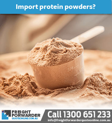 Need to what's involved when importing protein powders?