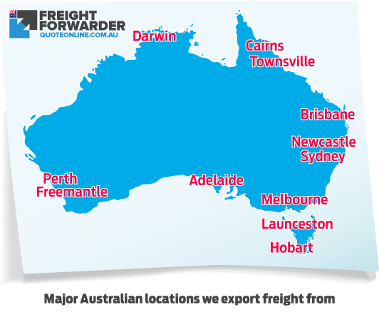Import freight quote online service map