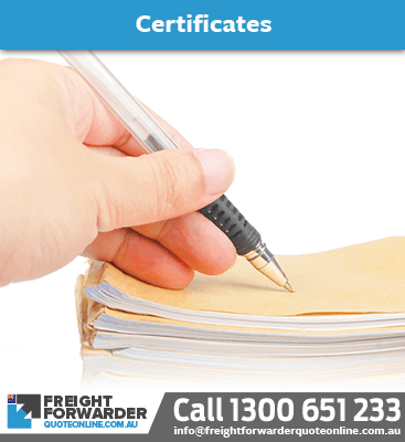 Need help with certificates for your shipping export documentation?