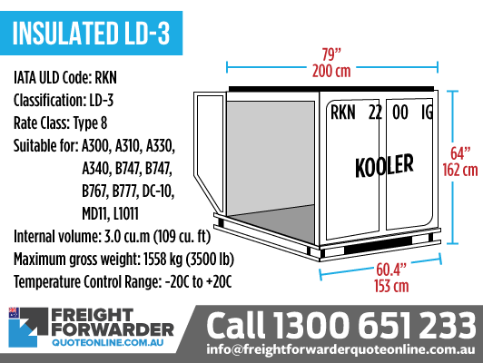 Insulated LD-3 (RKN) - Internal volume 3.0 m3