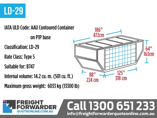LD-29 (AAU Contoured Container on P1P Base) - Internal volume 14.2 m3