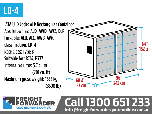 LD-4 ALP Rectangular Container - internal volume 5.7 m3