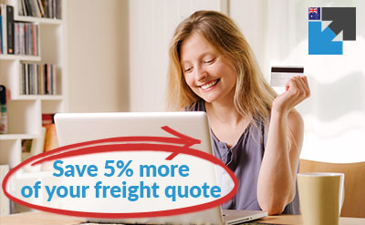 Discount freight quote - get 5% more off