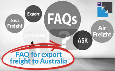 Export FAQ for air freight and sea freight from Australia