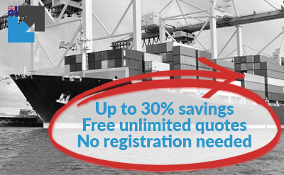 Get your export sea freight quote online from Australia here