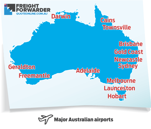 FFQO provides customs clearance for cargo being imported to these major Australian airports