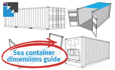 Shipping container dimensions guide for Australia