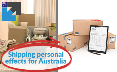 Freight forwarding personal effects overseas to and from Australia