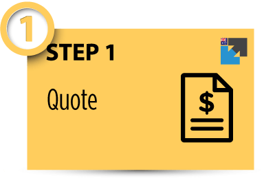 Step 1: Use our calculator and get your instant quote