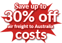 Import air freight to Australia - Fast and easy online quote tool