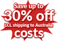 Save on 30% on LCL shipping to to Australia - Get quotes and save costs with Freight Forwarder Quote Online