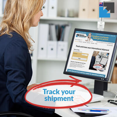 Get peice of mind and use our track and trace system for your international shipping to and from Australia